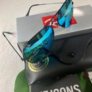 NWT Rayban 3025 Blue Aviators Sunglasses 58mm